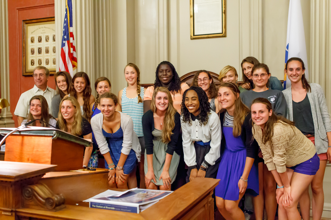 2012 Newton North Girls Track Team honored by City of Newton
