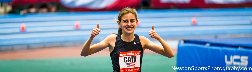 Mary Cain smashes high school record for 2 mile at New Balance Indoor Grand Prix